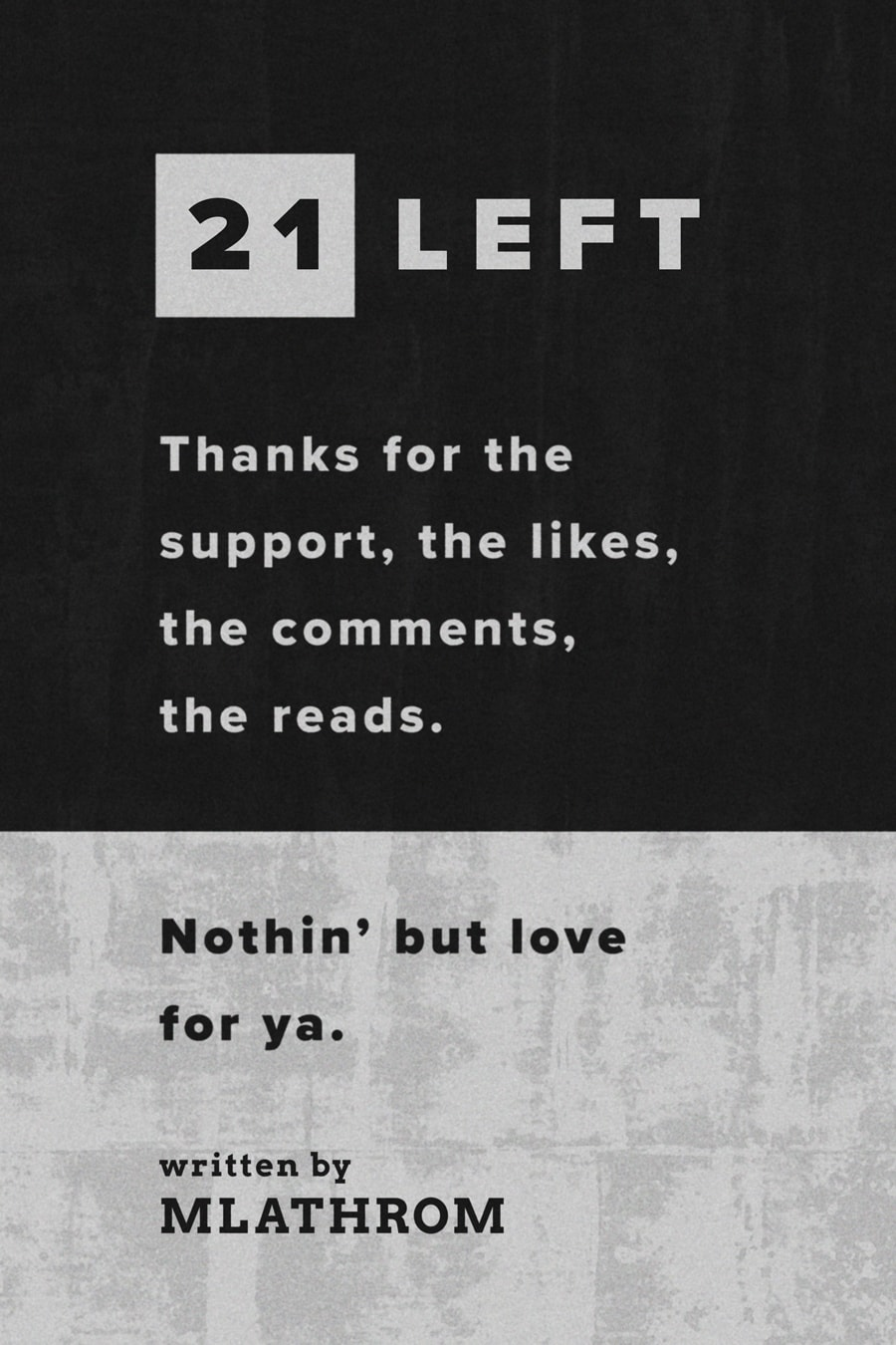 21 Left Poster