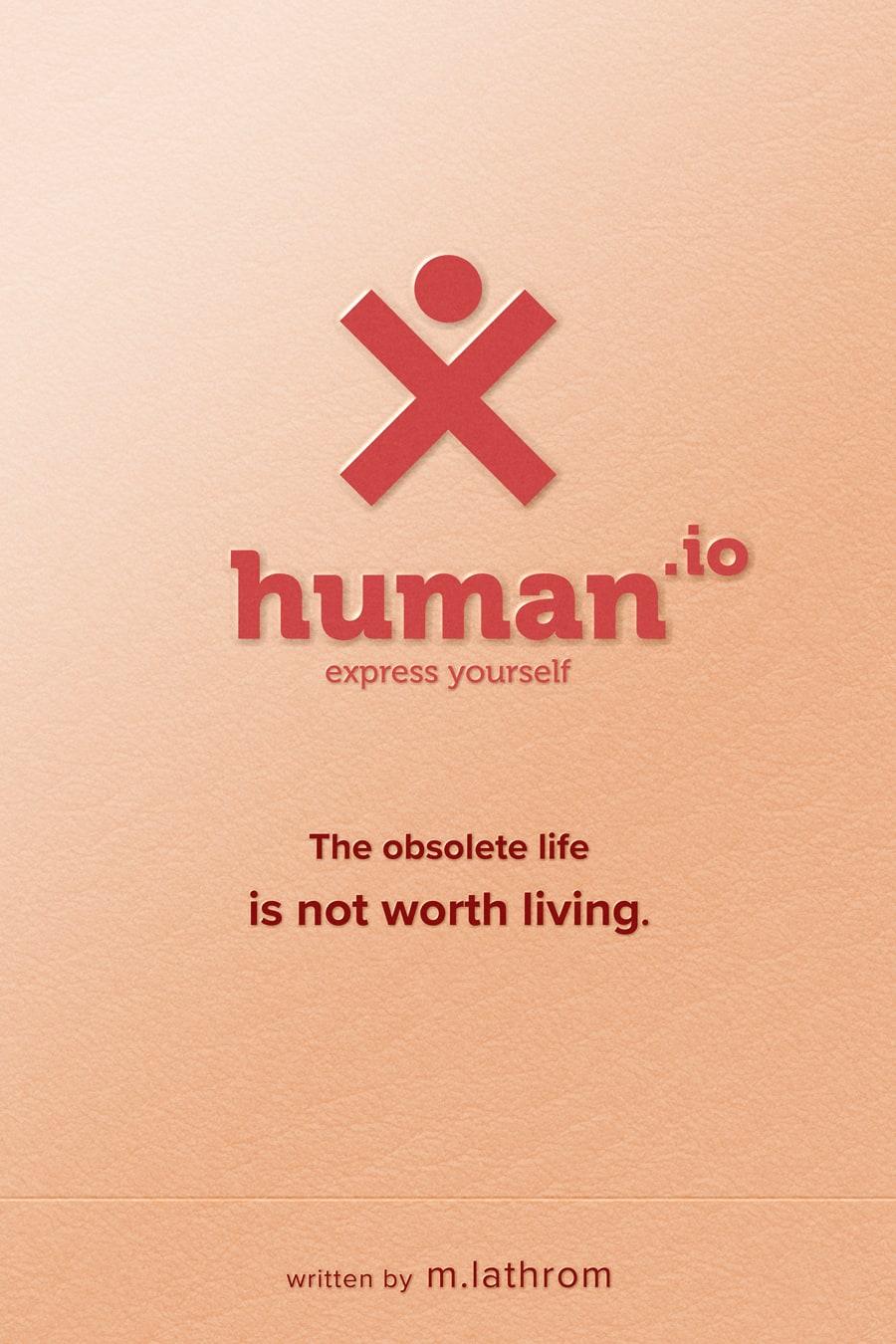 Human.io | Pale Peach Poster